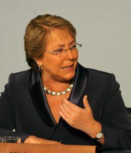 Chile's President Michelle Bachelet deli